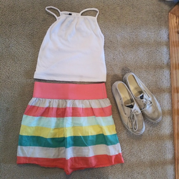 Charlotte Russe Dresses & Skirts - 🔴5/$25 Striped Skirt - Charlotte Russe, Size M